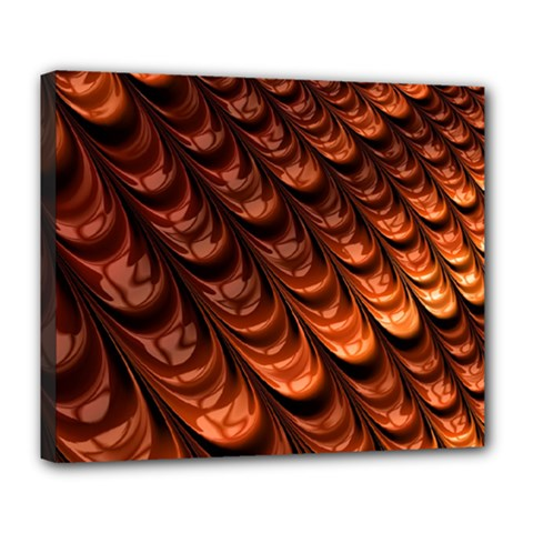 Brown Fractal Mathematics Frax Deluxe Canvas 24  X 20   by Amaryn4rt