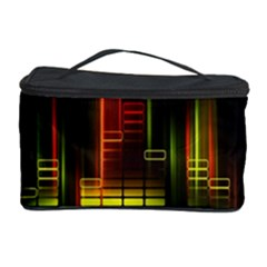 Plaid Light Neon Green Cosmetic Storage Case