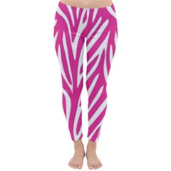 Zebra Skin Pink Classic Winter Leggings