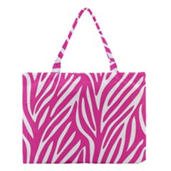 Zebra Skin Pink Medium Tote Bag