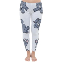 Rhinoceros Animal Rhino Classic Winter Leggings