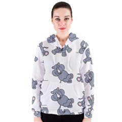 Rhinoceros Animal Rhino Women s Zipper Hoodie