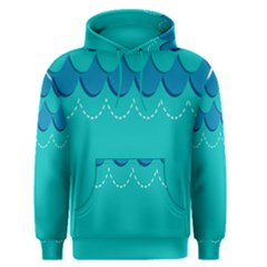 Sea Wave Blue Water Beach Men s Pullover Hoodie by Alisyart