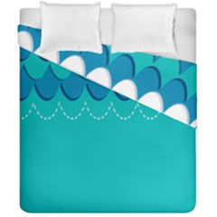 Sea Wave Blue Water Beach Duvet Cover Double Side (california King Size)