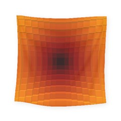 Orange Background Wallpaper Texture Lines Square Tapestry (small)