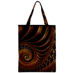 Fractal Spiral Endless Mathematics Zipper Classic Tote Bag by Amaryn4rt