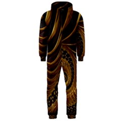 Fractal Spiral Endless Mathematics Hooded Jumpsuit (men)  by Amaryn4rt