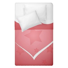 Postcard Banner Heart Holiday Love Duvet Cover Double Side (single Size) by Amaryn4rt