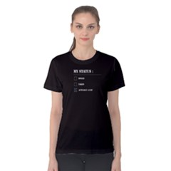 Black Actually A Cat  Women s Cotton Tee by FunnySaying