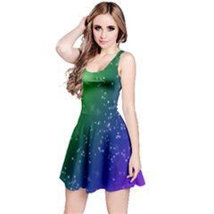 Shiny Sparkles Star Space Purple Blue Green Reversible Sleeveless Dress by Alisyart