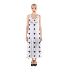 Sign Cross Plus Black Sleeveless Maxi Dress by Alisyart