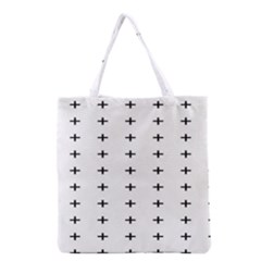Sign Cross Plus Black Grocery Tote Bag by Alisyart