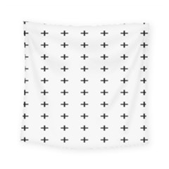 Sign Cross Plus Black Square Tapestry (small) by Alisyart