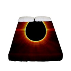 Solar Eclipse Moon Sun Black Night Fitted Sheet (full/ Double Size)