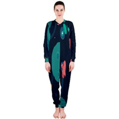 f29e3bb6e40e Space Illustration Irrational Race Galaxy Planet Blue Sky Star Ufo Onepiece  Jumpsuit (ladies) by