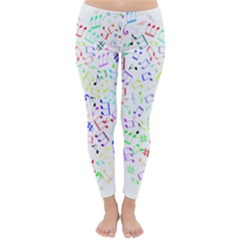 Prismatic Musical Heart Love Notes Rainbow Classic Winter Leggings