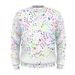 Prismatic Musical Heart Love Notes Rainbow Men s Sweatshirt