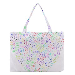 Prismatic Musical Heart Love Notes Rainbow Medium Tote Bag by Alisyart