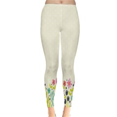 Spring Floral Flower Rose Tulip Leaf Flowering Color Classic Winter Leggings