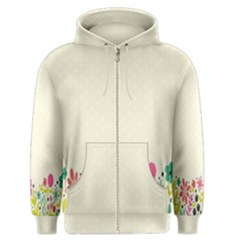 Spring Floral Flower Rose Tulip Leaf Flowering Color Men s Zipper Hoodie