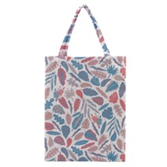 Spencer Leaf Floral Purple Pink Blue Rainbow Classic Tote Bag