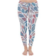 Spencer Leaf Floral Purple Pink Blue Rainbow Classic Winter Leggings