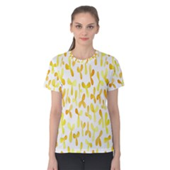 Springtime Yellow Helicopter Women s Cotton Tee
