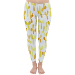 Springtime Yellow Helicopter Classic Winter Leggings