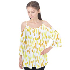 Springtime Yellow Helicopter Flutter Tees