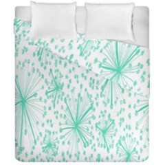 Spring Floral Green Flower Duvet Cover Double Side (california King Size) by Alisyart