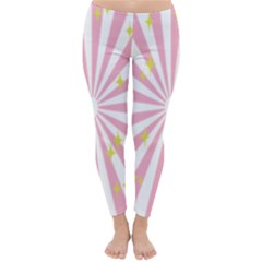 Star Pink Hole Hurak Classic Winter Leggings