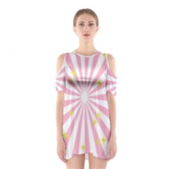 Star Pink Hole Hurak Shoulder Cutout One Piece