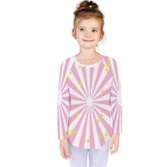 Star Pink Hole Hurak Kids  Long Sleeve Tee