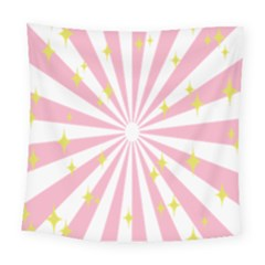 Star Pink Hole Hurak Square Tapestry (large)