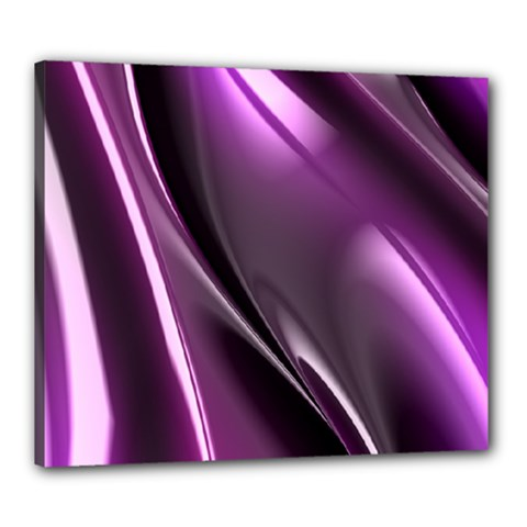 Purple Fractal Mathematics Abstract Canvas 24  X 20