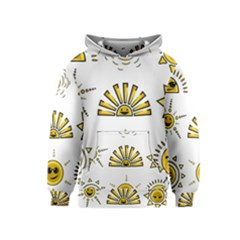 Sun Expression Smile Face Yellow Kids  Pullover Hoodie