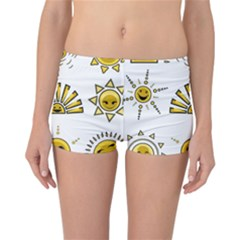 Sun Expression Smile Face Yellow Reversible Bikini Bottoms by Alisyart