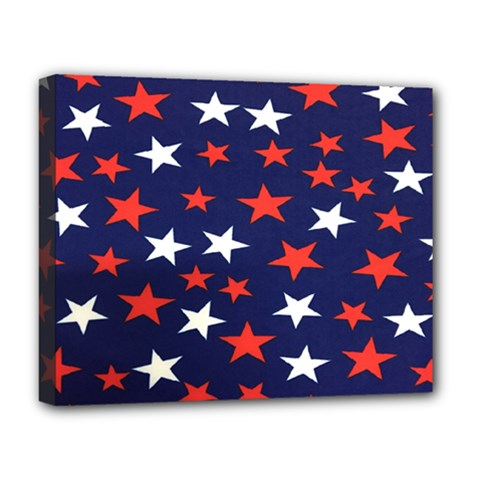 Star Red White Blue Sky Space Deluxe Canvas 20  X 16   by Alisyart