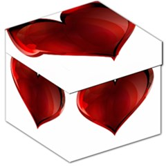 Heart Gradient Abstract Storage Stool 12   by Amaryn4rt