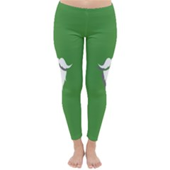 The Dude Beard White Green Classic Winter Leggings