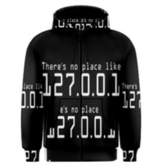 There s No Place Like Number Sign Men s Zipper Hoodie