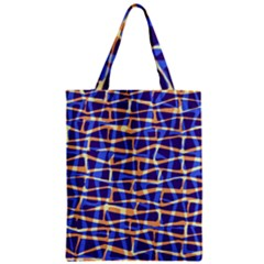 Surface Pattern Net Chevron Brown Blue Plaid Classic Tote Bag