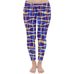 Surface Pattern Net Chevron Brown Blue Plaid Classic Winter Leggings