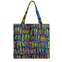 Surface Pattern Green Grocery Tote Bag