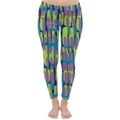 Surface Pattern Green Classic Winter Leggings
