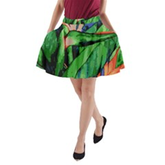 Flowers Art Beautiful A Line Pocket Skirt