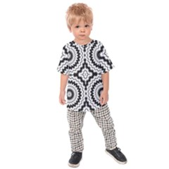 Pattern Tile Seamless Design Kids  Raglan Tee by Amaryn4rt