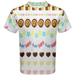 Sunflower Plaid Candy Star Cocolate Love Heart Men s Cotton Tee