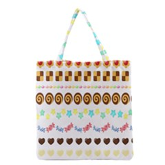 Sunflower Plaid Candy Star Cocolate Love Heart Grocery Tote Bag