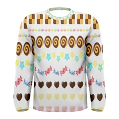 Sunflower Plaid Candy Star Cocolate Love Heart Men s Long Sleeve Tee by Alisyart